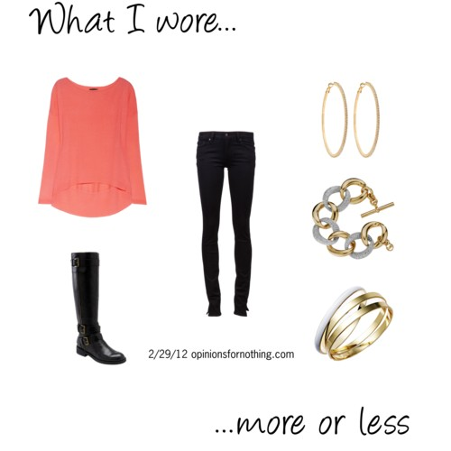 What I Wore: 2/29/12