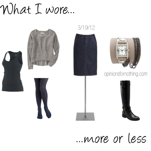 What I Wore: 3/19/12