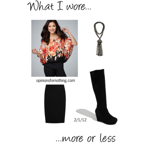 What I Wore: 2/1/12
