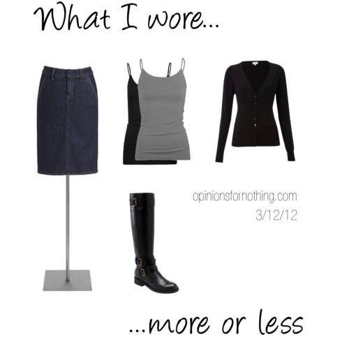What I Wore: 3/12/12