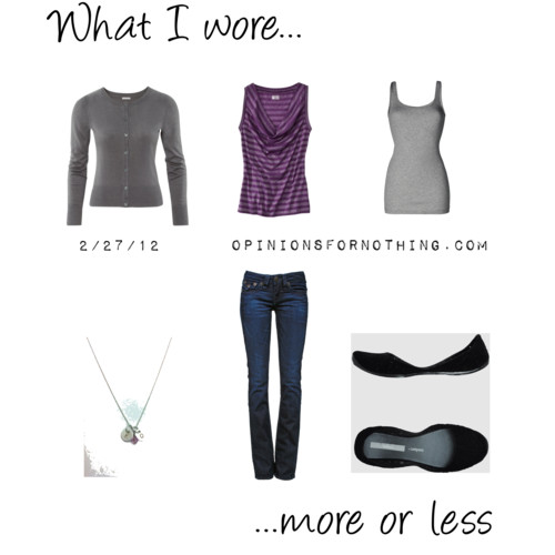 What I Wore: 2/27/12