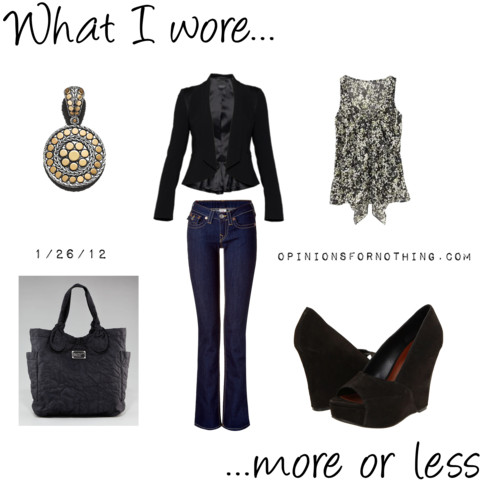 What I Wore: 1/26/12