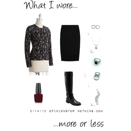 What I Wore: 2/14/12