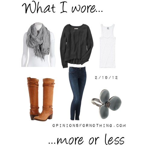 What I Wore: 2/19/12