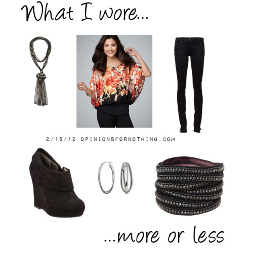 What I Wore: 2/18/12