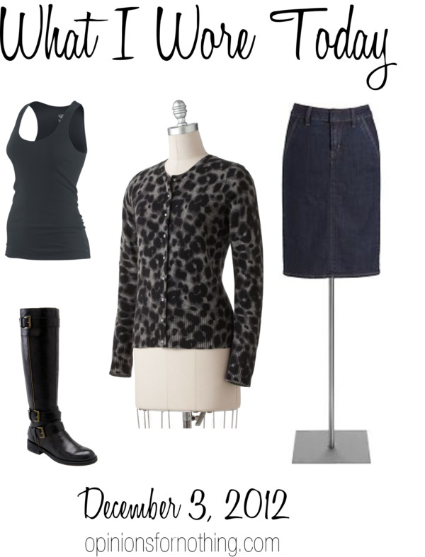 What I Wore: 12/3/2012