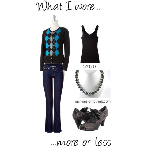 What I Wore: 1/31/12