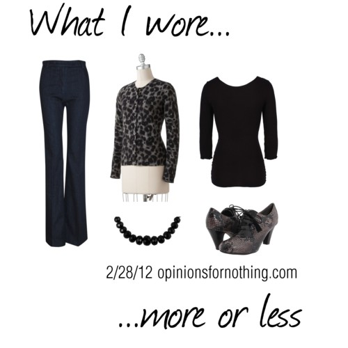 What I Wore: 2/28/12