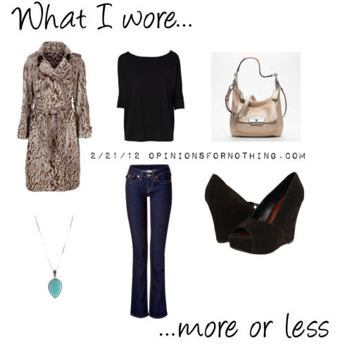 What I Wore: 2/21/12