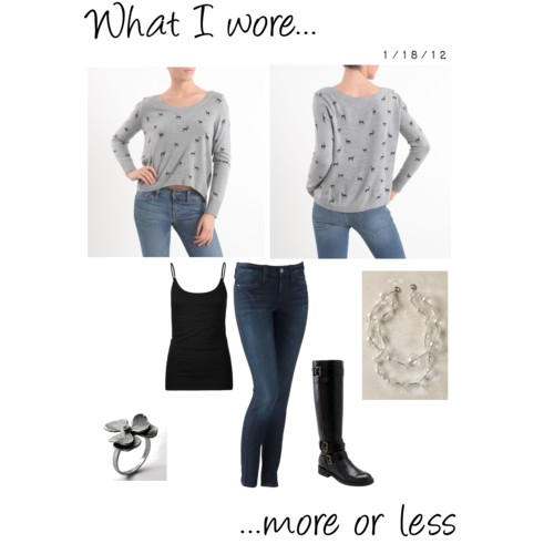 What I Wore: 1/18/12